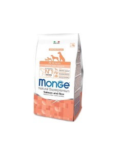 Monge all breeds puppy salmone e riso 12 kg