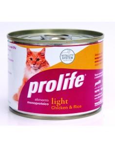 Prolife cat light pollo e riso lattina umido 200 gr