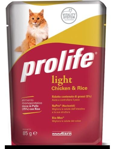 Prolife Cat Adult Light Pollo e Riso - 85 gr