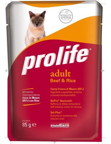 Prolife Cat Adult Manzo e Riso - 85 gr