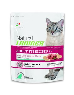 Natural trainer Gatto adult sterilised prosciutto crudo 300 gr