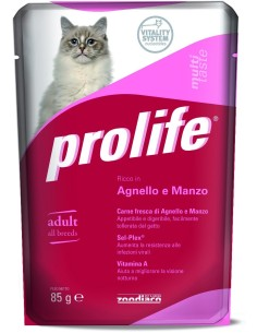 Prolife cat adult agnello e manzo busta umido 85 gr
