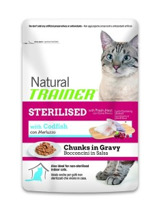 Natural trainer busta ADULT sterilised Merluzzo 85g
