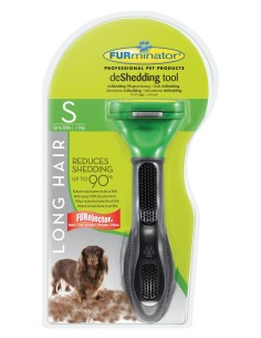 Furminator Long Hair deShedding per Cani dal Pelo Lungo di Taglia Piccola
