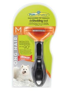 Furminator Long Hair deShedding per Cani dal Pelo Lungo di Taglia Media