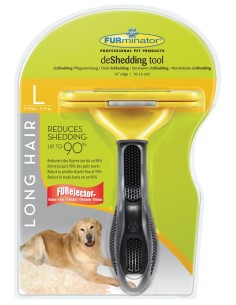 Furminator Long Hair deShedding per Cani dal Pelo Lungo di Taglia Grande