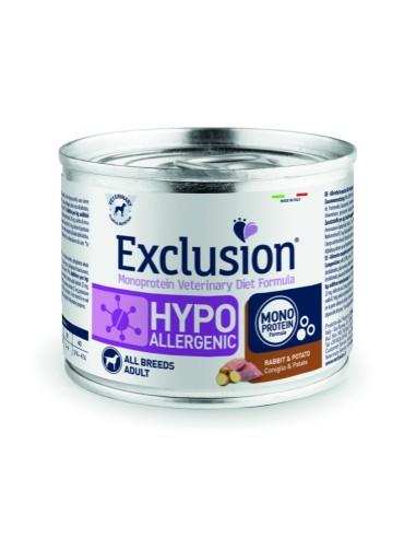 EXCLUSION Hypoallergenic Coniglio e Patate lattina 200g