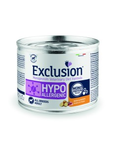 EXCLUSION HYPOALLERGENIC Anatra e Patate lattina 200g