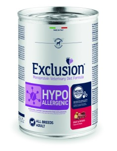 EXCLUSION HYPOALLERGENIC Goat and Patate lattina 400g