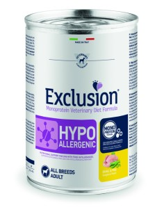 EXCLUSION HYPOALLERGENIC Quaglia and Piselli lattina 400g