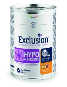 EXCLUSION HYPOALLERGENIC Anatra and Patate lattina 400g