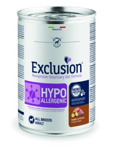 EXCLUSION HYPOALLERGENIC Coniglio and Patate lattina 400g