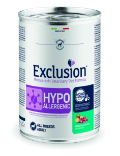 EXCLUSION HYPOALLERGENIC Cervo and Patate lattina 400g