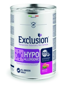 EXCLUSION HYPOALLERGENIC Maiale and Piselli lattina 400g
