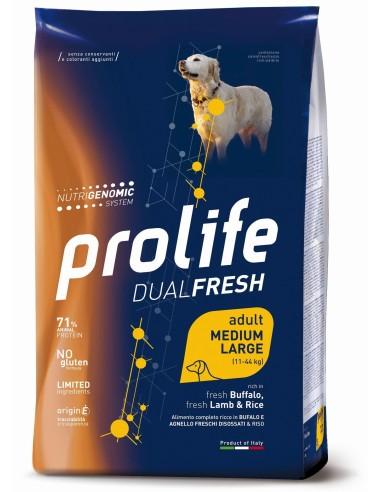 Prolife Dualfresh Adult Medium/Large Bufalo Agnello e Riso - 2,5 kg