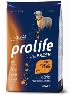 Prolife   Dual Fresh Tacchino/Maiale e Riso medium/large 12 kg