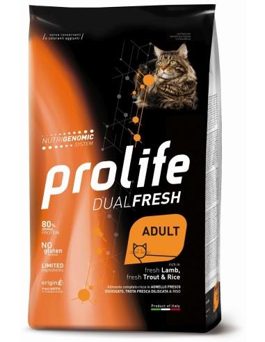 Prolife Cat Dualfresh Adult Agnello Trota e Riso - 1,5 kg