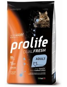Prolife Cat dual fresh Ad salmone/merluzzo e riso 1,5 kg
