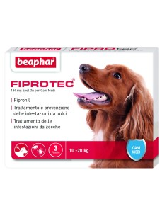 Fiprotec cane medio 3 pipette x 134 mg
