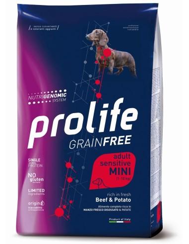 Prolife Grainfree Adult Sensitive Mini Manzo e Patate - 0,6 kg
