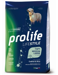 Prolife light Ad Baccalà e Riso medium/large 12 kg