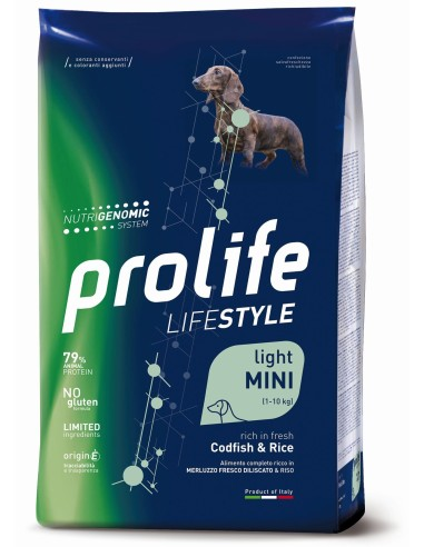 Prolife Lifestyle Light Mini Merluzzo e Riso - 2kg