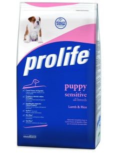 Prolife Puppy Sensitive Agnello e Riso 12 Kg