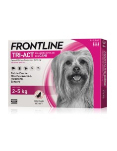 Frontline tri-act spot-on per cani 2-5 kg