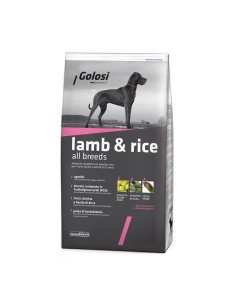 Golosi lamb & rice all breeds  crocchette cane 12 kg