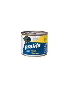 Prolife   Mini Pollo e Riso lattine 200 Gr per cane
