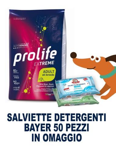 Prolife extreme Ad Cinghiale / Quaglia / Fagiano e Legumi 10 kg  + SALVIETTE DETERGENTI IN OMAGGIO