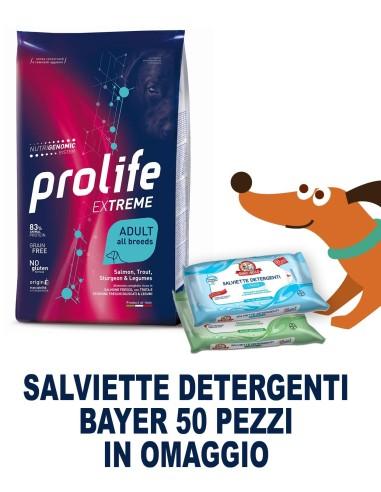 Prolife extreme Ad Salmone / Trota / Storione e Legumi 10 kg  + SALVIETTE DETERGENTI IN OMAGGIO