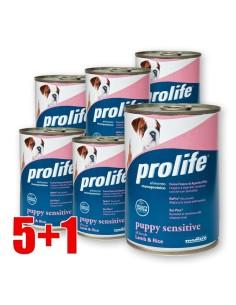 Prolife Sensitive Agnello e Riso lattina 400 Gr per cuccioli 5+1