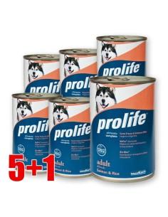 Prolife Salmone e Riso lattina 400 Gr per cani 5+1