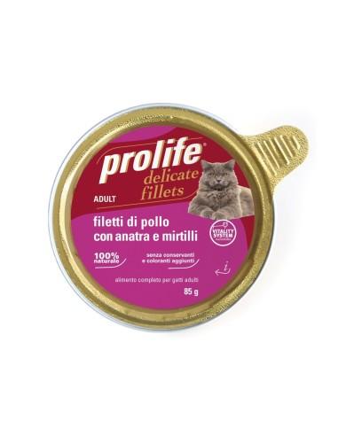 Prolife Cat Delicate Fillets - Filetti di Pollo con Anatra e Mirtilli - 12x85gr
