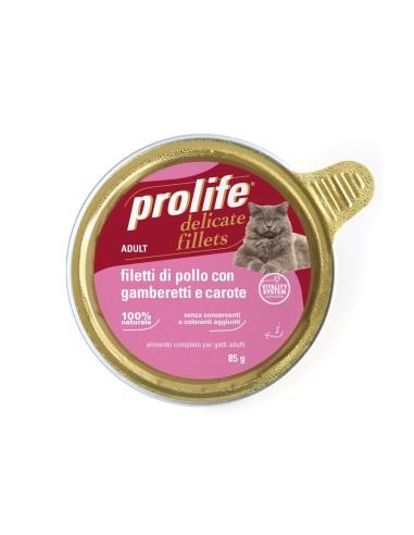Prolife Cat Delicate Fillets - Filetti di Pollo con Gamberetti e Carote - 12x85gr