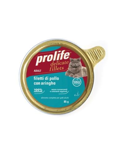 Prolife Cat Delicate Fillets - Filetti di Pollo con Aringhe - 12x85 gr