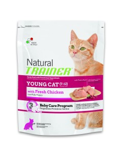 Natural trainer young cat pollo fresco 300 gr