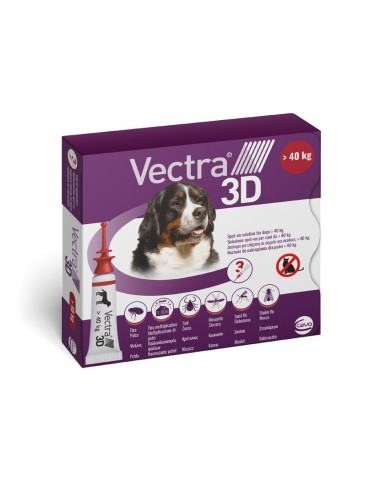 Vectra® 3D spot-on per cani oltre 40 kg (3 pipette)
