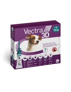 Vectra® 3D spot-on per cani 4/10 kg (3 pipette)