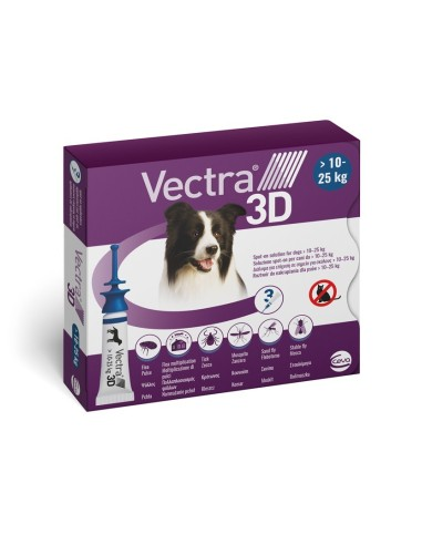 Vectra® 3D spot-on per cani 10/25 kg (3 pipette)