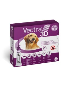 Vectra® 3D spot-on per cani 25/40 kg (3 pipette)