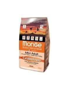 Monge grain free mini adult anatra e patate 2,5 kg