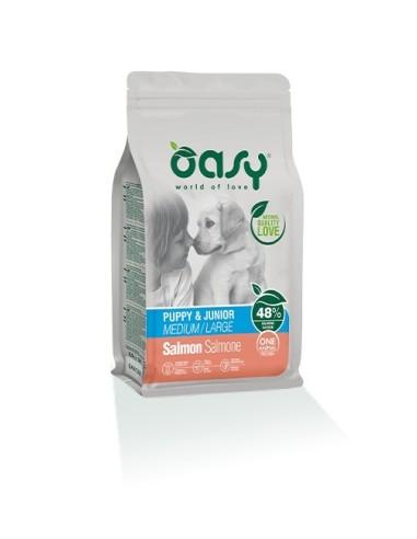 Oasy One Protein Secco Cane Puppy&Junior Medium/Large Salmone 12kg