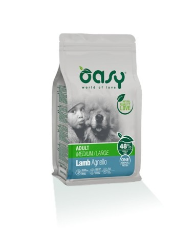 Oasy One Protein Secco Cane Medium/Large Agnello 12kg