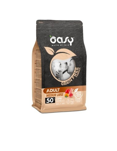 Oasy Grain Free Secco Cane Medium/Large Agnello 2.5kg