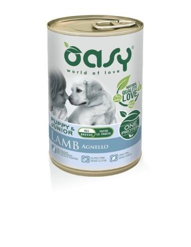 Oasy One   Umido Cane Puppy&Junior Medium/Large Agnello 400gr