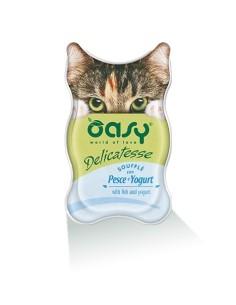 Oasy Delicatesse Umido Gatto Soufflè con Pesce e Yogurt 85gr