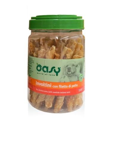 Oasy Snack Cane - Involtini con Filetto di Pollo Barattolo 350gr