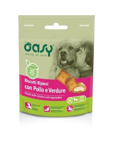 Oasy Snack Cane - Biscotti Ripieni con Pollo e Verdure 80gr
